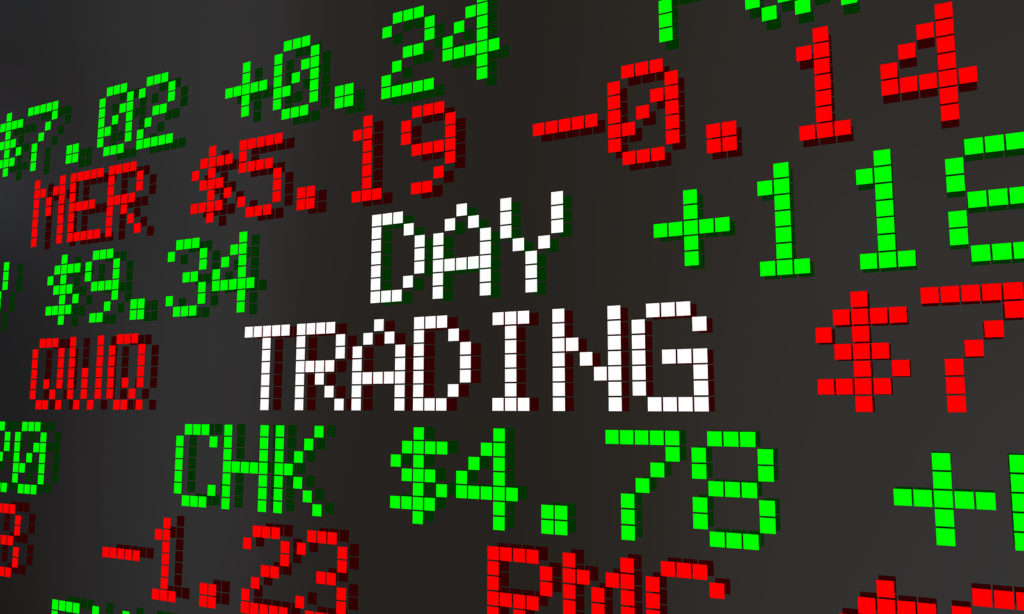 Day trading stock ticker image